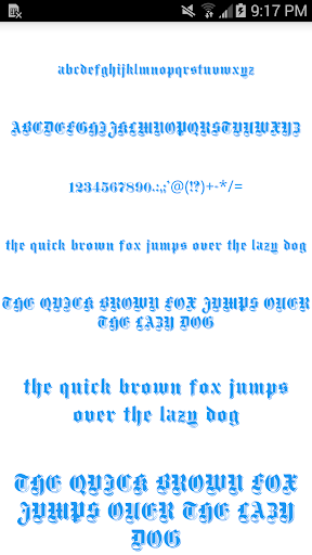 Color Fonts for FlipFont 4