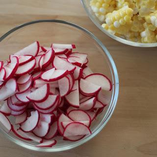 Sweet Corn and Radish Saute