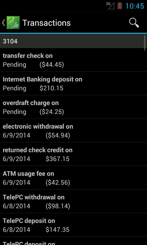 F&M Mobile Banking- screenshot