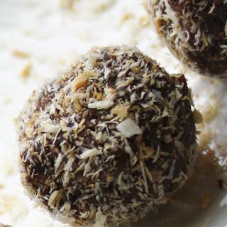 Raw Fudge Brownie Bites w/ Toasted Coconut