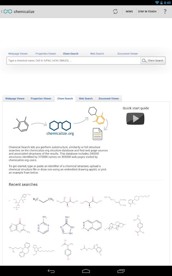 chemicalize - screenshot