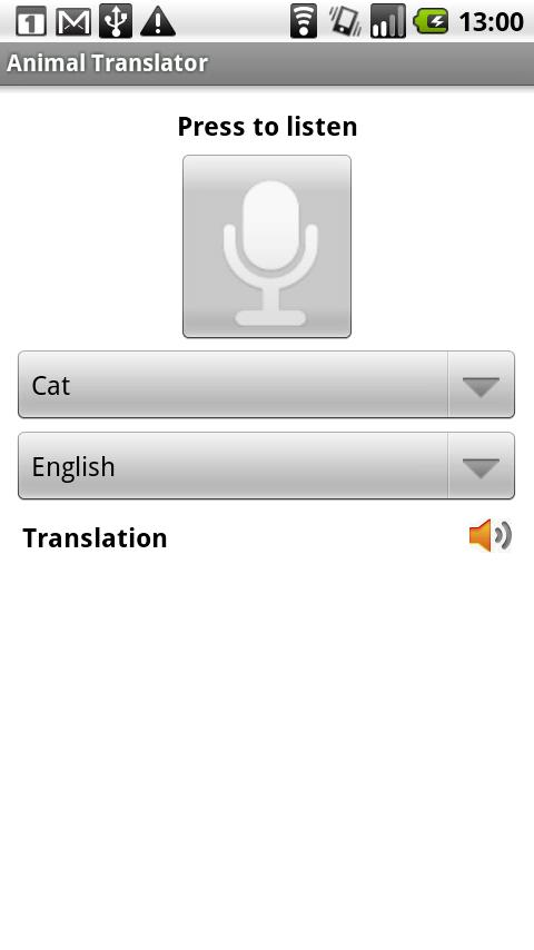 Animal Translator - screenshot