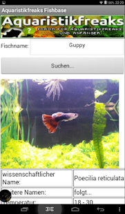 Aquaristikfreaks Fishbase- screenshot thumbnail