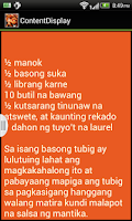 Screenshot of Filipino Recipes 2014