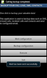 Backup Call logs,SMS & Contact- screenshot thumbnail