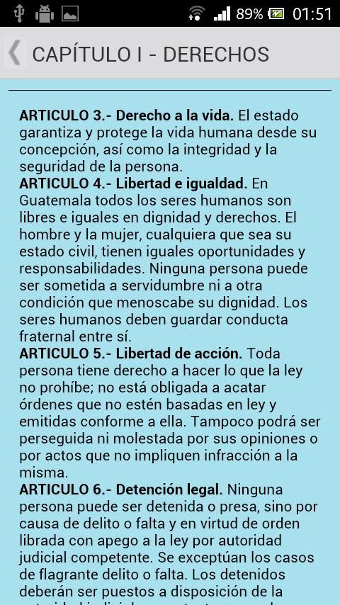 Constitución de Guatemala- screenshot