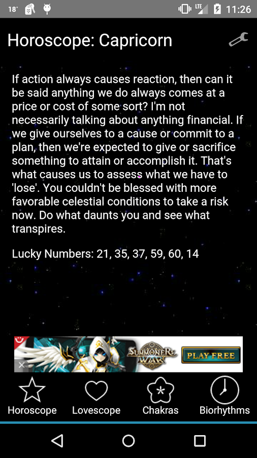 Horoscopes - screenshot
