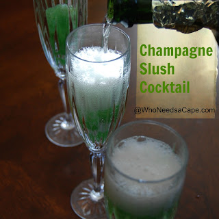 Champagne Slush Cocktail.