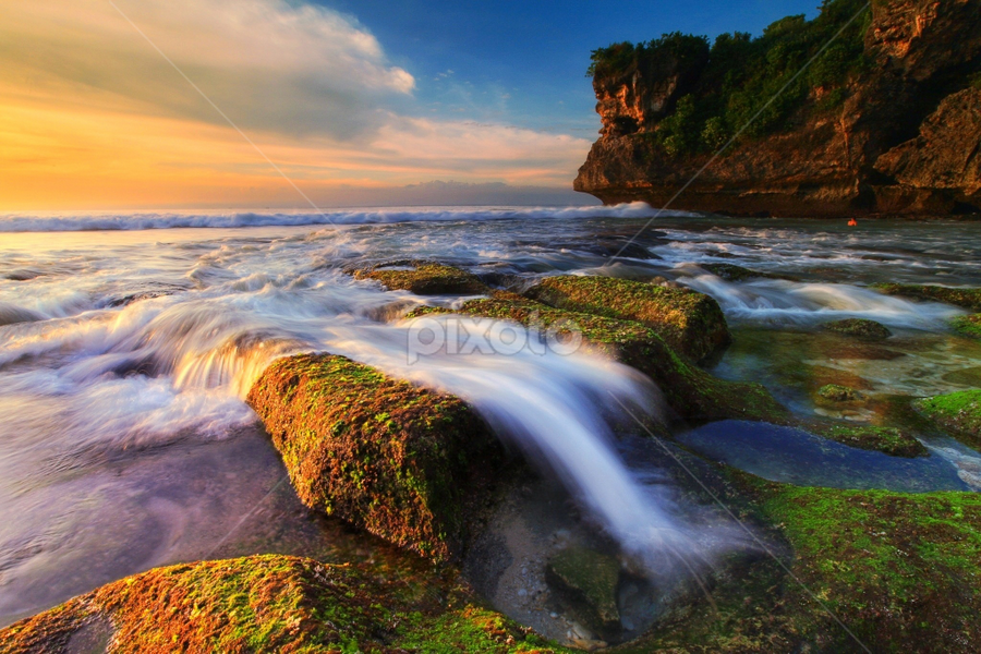 Beautiful Balangan Beach by Asep Dedo - Landscapes Waterscapes ( long, exposure, daytime, edition, challenge )