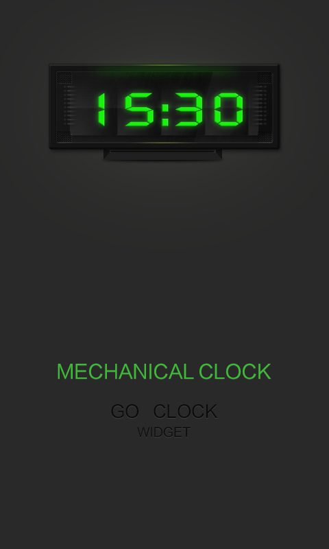 Mechanical - Clock Widget - screenshot