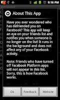 Screenshot of Defriended (Ad-Free)
