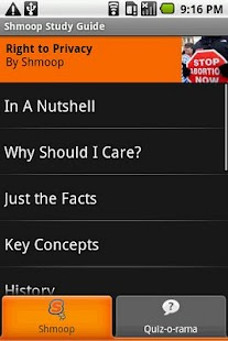 Right to Privacy: Shmoop Guide - screenshot thumbnail