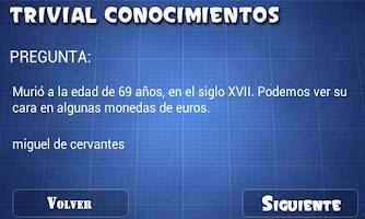 Screenshot of Trivial. Conocimientos