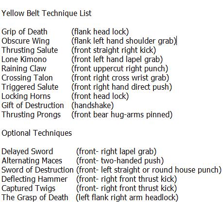 Medina Kenpo Yellow 15