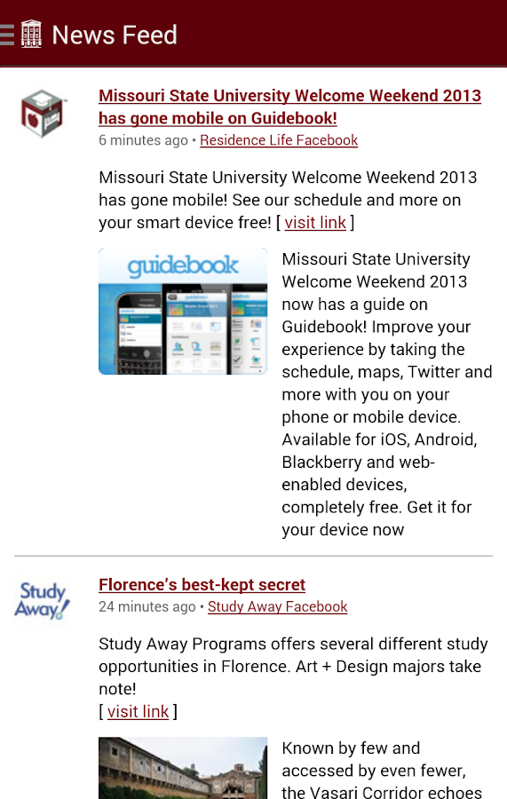 MSU Mobile - screenshot