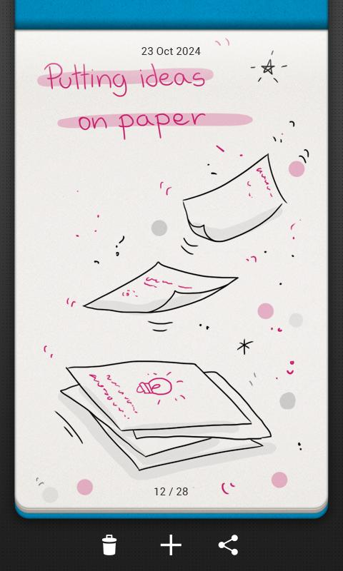 Bamboo Paper memo – Screenshot