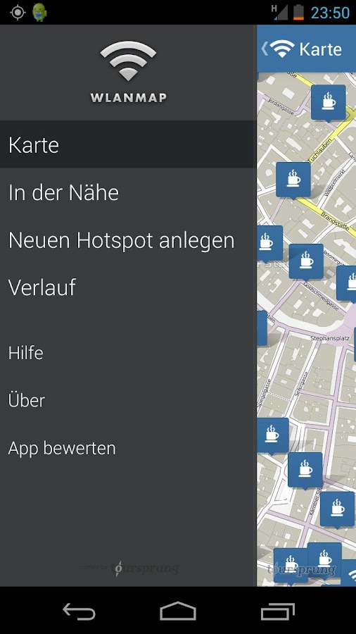 WiFi map - free Wi-Fi location - screenshot