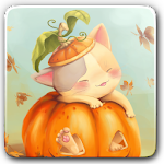 Pumpkin Kitten Wallpaper Free