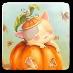 Pumpkin Kitten Wallpaper Free