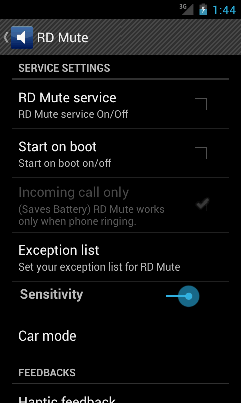 RD Mute - screenshot