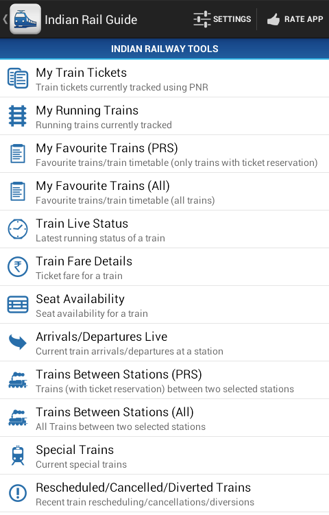 VRail - PNR Status and Trains Most advanced Indian Railway Enquiry Android  App in the Market
