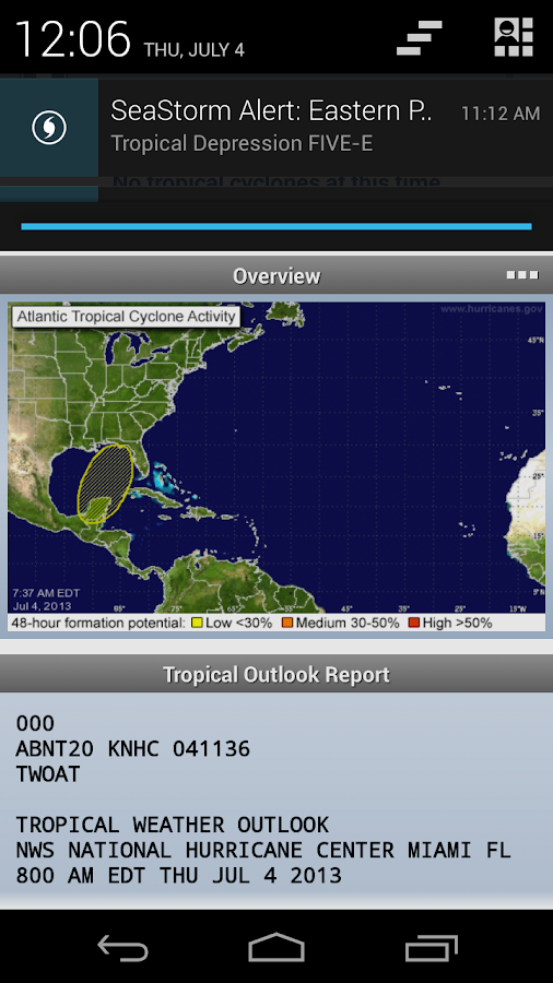 SeaStorm Hurricane Tracker - screenshot