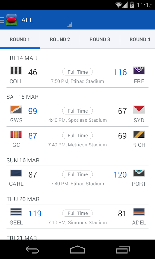 AFL - Footy Live - screenshot
