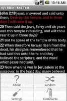 Screenshot of KJV Bible - Red Text