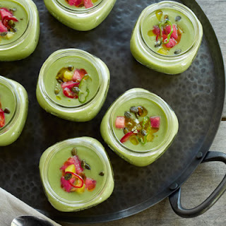 Cucumber Gazpacho with Watermelon and Mint