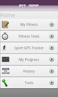 Screenshot of Fit App