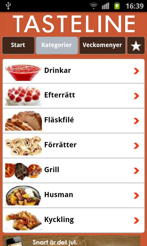 Tasteline Recept - screenshot