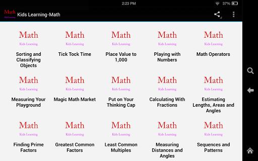 Kids Learning-Math