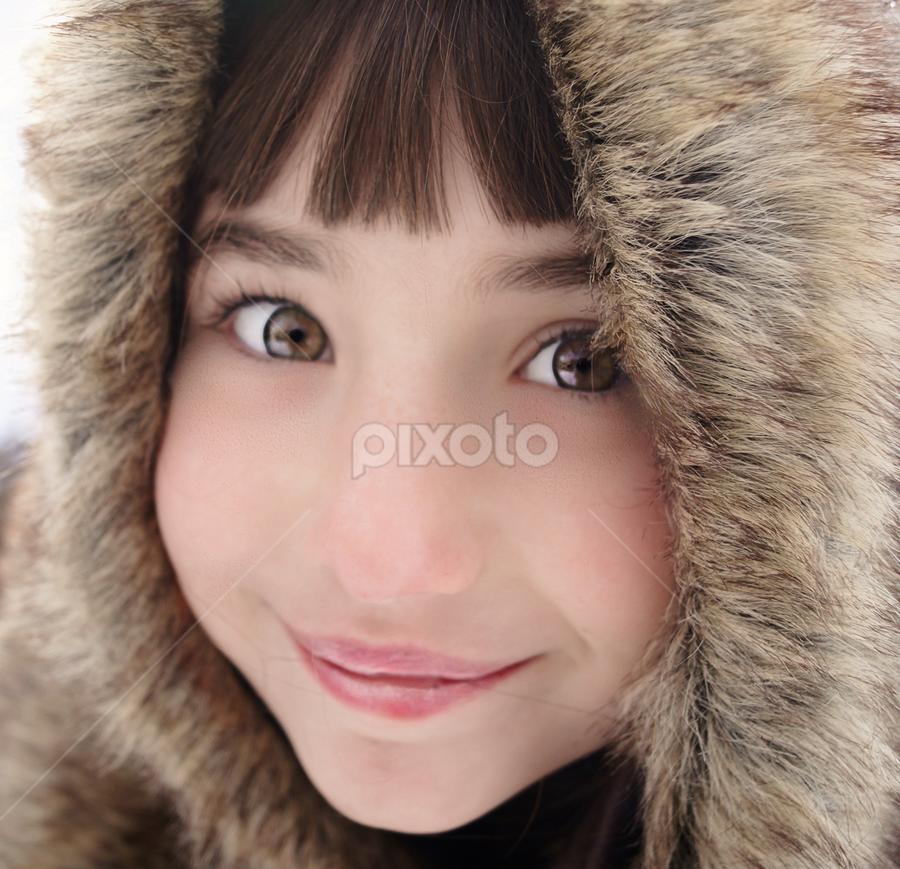 Smiley in Fur by Cheryl Korotky - Babies & Children Child Portraits (  )