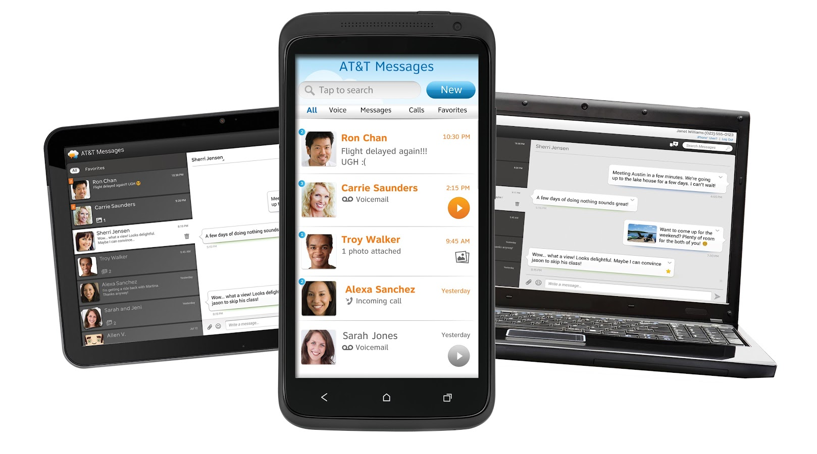 AT&T Messages for Tablet- screenshot