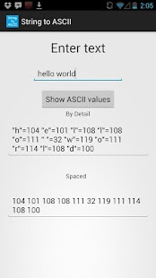 String to Ascii Converter - screenshot thumbnail