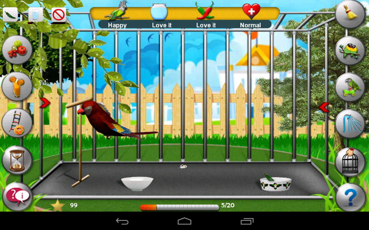 Pet Parrot - 2D Pet Simulator - screenshot