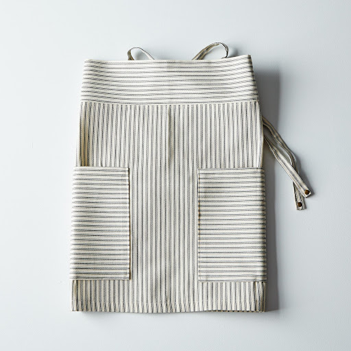 Green Ticking Half Apron