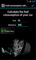 Screenshot of Fuel Consumption Calc. DEMO