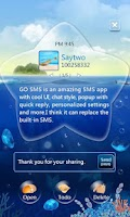 Screenshot of GO SMS Pro OceanStar Popup ThX