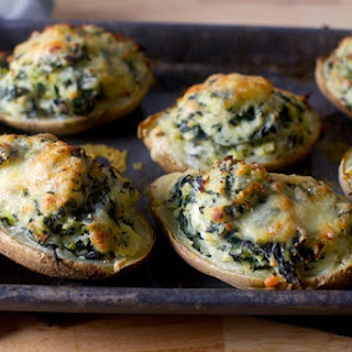 Twice-Baked Potatoes with Kale.