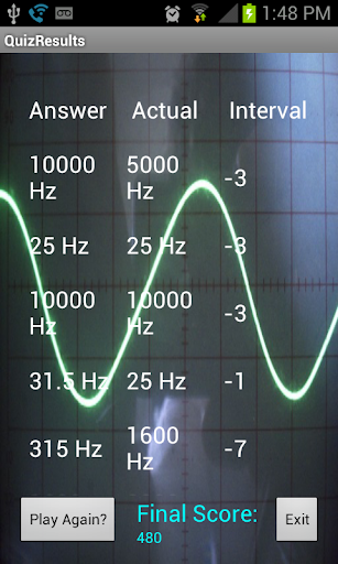 Sine Wave Ear Training Quiz