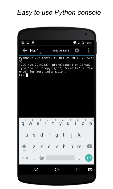 QPython - Python for Android- screenshot