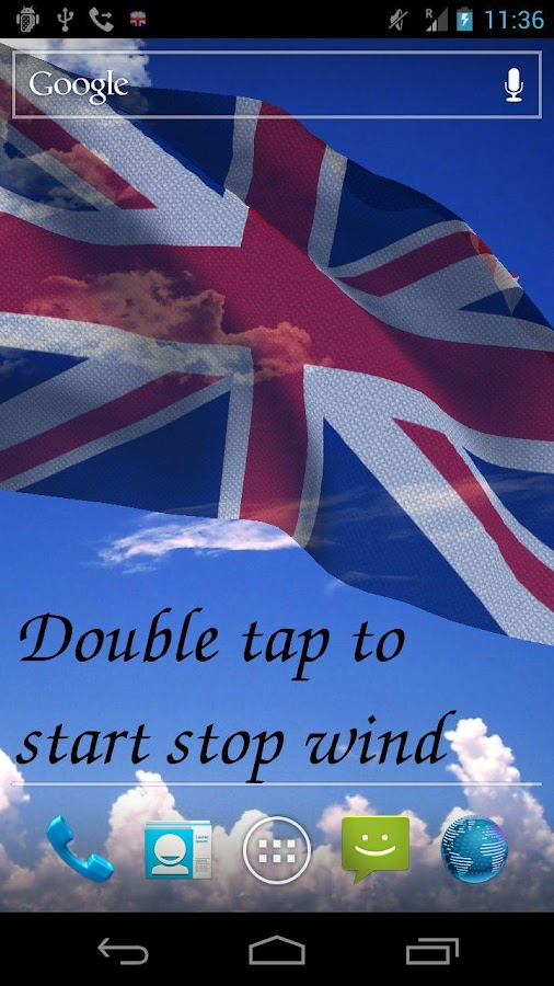 3D UK Flag Live Wallpaper - screenshot