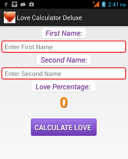 Love Calculator Deluxe