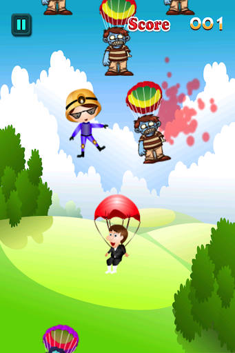 Zombie Skydiver Panic Freefall