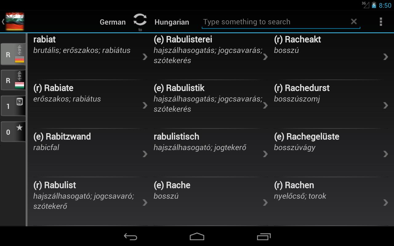 Free Dict Hungarian German - screenshot