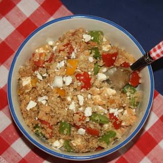 Quinoa Lentil Feta Salad