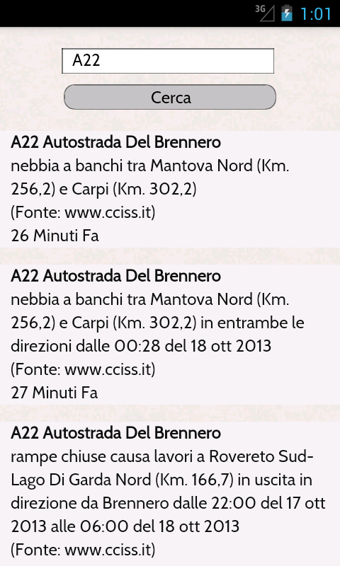 Traffico Autostrade - screenshot