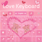 Pink Love Keyboard GO