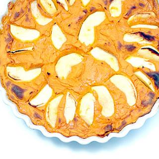 Vegan Baked Kuri Kabocha Squash and Apple Maple Pudding (or crustless pie)